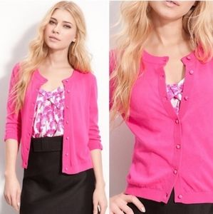 Kate Spade pink 3/4th bow sleeve cardigan